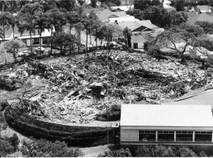 FROM the air ... remains of Brisbane's Cloudland Ballroom which was demolished without a permit in the early hours of the morning of December 17, 1982